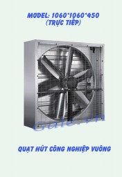 quạt hút công nghiệp (motor trực tiếp) 1060x1060x450