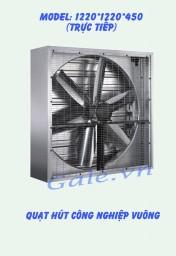 Quạt hút công nghiệp (motor trực tiếp) 1220x1220x450