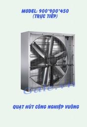 Quạt hút công nghiệp (motor trực tiếp) 900x900x450