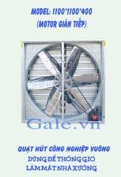 Quạt thông gió công nghiệp vuông 1100x1100x400