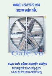 Quạt thông gió công nghiệp vuông 1220x1220x400