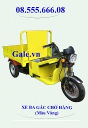Xe Ba Gác Chở Hàng Bằng Điện Màu Vàng